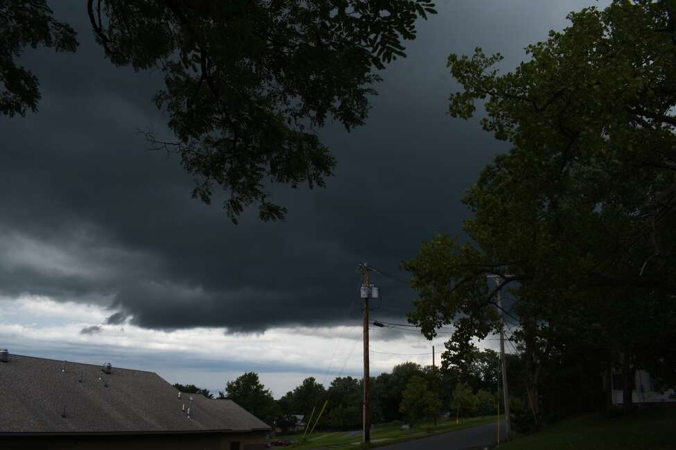 Click through the slideshow of readers' storm photos. Scott Gannon of Schenectady sent photos on Aug. 21, 2019, looking over Yates Village with the note,