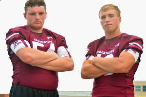Seniors Miles Keith Jr. and Bryson Daily have the Abernathy football team thinking big for the 2019 season.