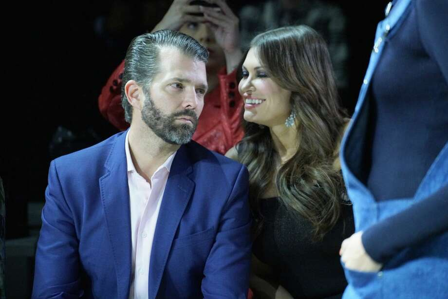 FILE - Donald Trump Jr. and Kimberly Guilfoyle attend the Zang Toi runway show in Gallery II in Spring Studios during New York Fashion Week: The Shows at Spring Studios on February 13, 2019 in New York City. Photo: Manny Carabel/Getty Images