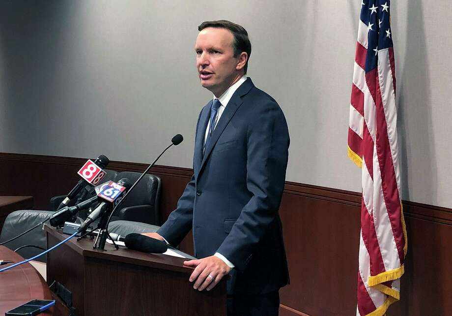 U.S. Sen. Chris Murphy speaks during a news conference, Friday, Aug. 23, 2019, in Hartford, Conn. Murphy said White House officials told him on Thursday that President Donald Trump remains committed to working on expanded background checks legislation for gun purchases. Photo: Susan Haigh / Associated Press / Copyright 2019 The Associated Press. All rights reserved