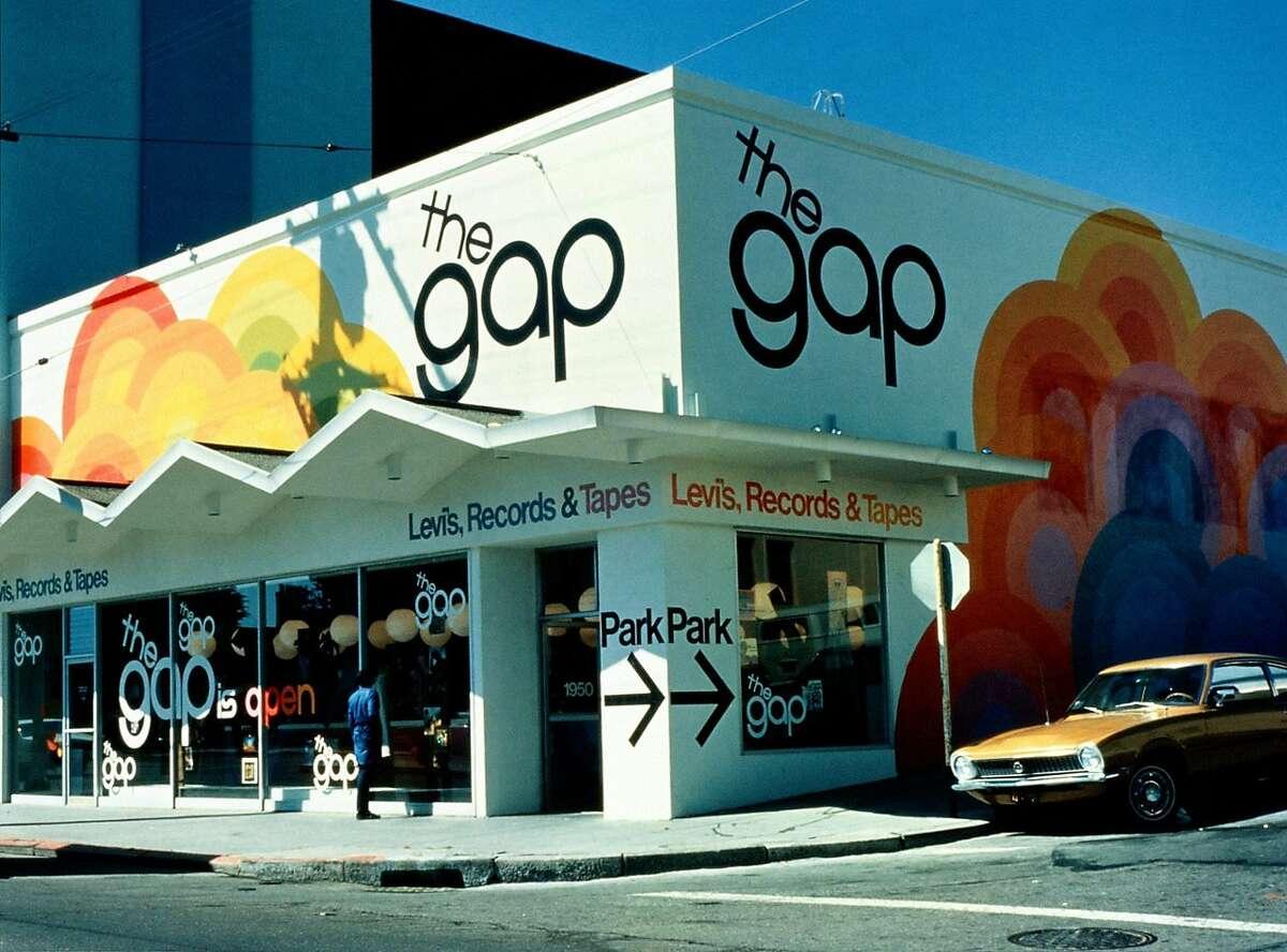 The Gap's original�Ocean Avenue store, 1969.