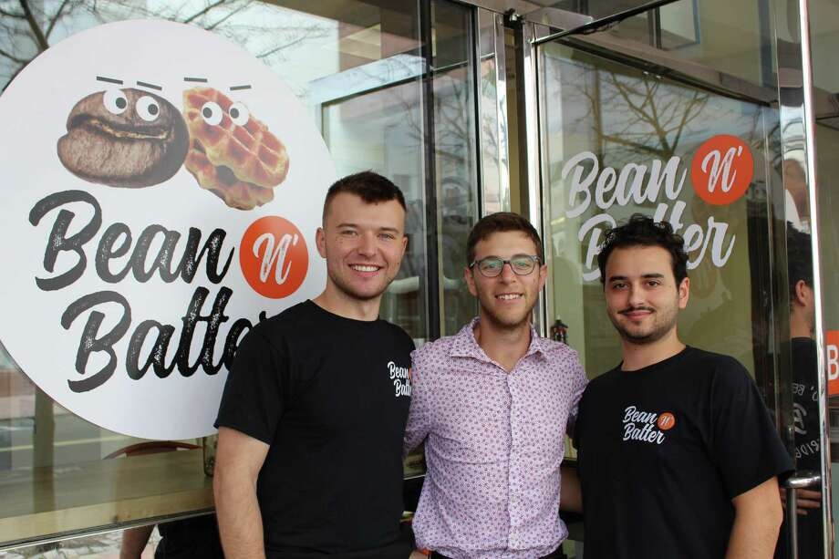 Left to right,Will Hamer, Adam Shapiro and Luke Lomanto owners of Bean N' Batter in Bridgeport Photo: Jordan Grice / Hearst Connecticut Media / Connecticut Post