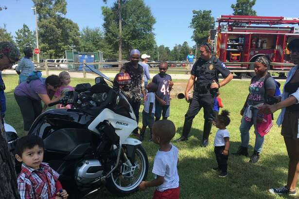 Kids Day at the Park begins at 11 am Sept. 14 with moonwalks, rock wall, petting zoo, and a display with our local first responders. Conroe Police Department, Conroe Fire Department, PHI Medical Helicopter, Montgomery County Hospital District Ambulance, and food! Kiwanis Kids Day in the Park continues until 2 p.m.