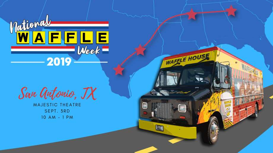 Waffle House is coming to San Antonio, for a day at least. To celebrate National Waffle Week, the chain will park a restaurant on wheels outside the Majestic Theater on Sept. 3 and will be giving out waffles, hashbrowns and swag from 10 a.m. to 1 p.m. Photo: Courtesy, Waffle House