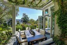 Extraordinary gardens surround a Tiburon estate at 5 Mar Centro with four-bedrooms and 4.5 bathrooms.