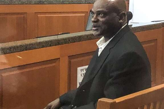 Former HPD officer Gerald Goines in court before turning himself in, August 23, 2019, in Houston. He was involved in the botched drug raid.