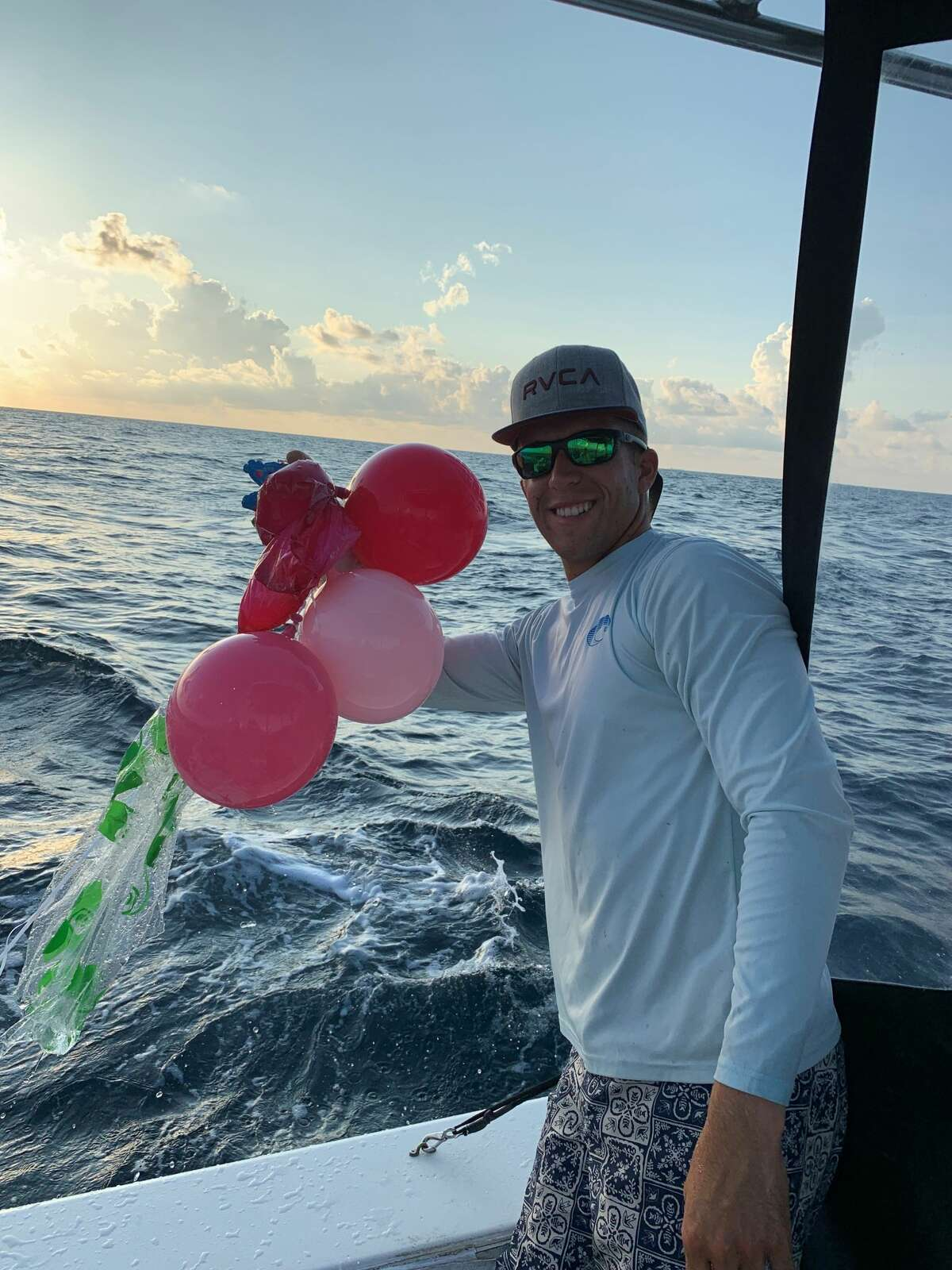 """A group of captains with Galveston Sea Ventures has started a """"balloon roundup"""" challenge to help educate the public on the dangers of balloon releases. Captain Shane Cantrell said sea turtles are especially at risk because they often get tangled in the ribbons or ingest the colorful balloons after mistaking them for jellyfish."""