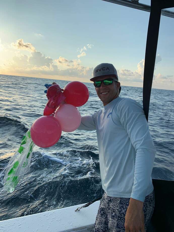 "A group of captains with Galveston Sea Ventures has started a ""balloon roundup"" challenge to help educate the public on the dangers of balloon releases. Captain Shane Cantrell said sea turtles are especially at risk because they often get tangled in the ribbons or ingest the colorful balloons after mistaking them for jellyfish. Photo: Courtesy Captain Shane Cantrell/Galveston Sea Ventures"