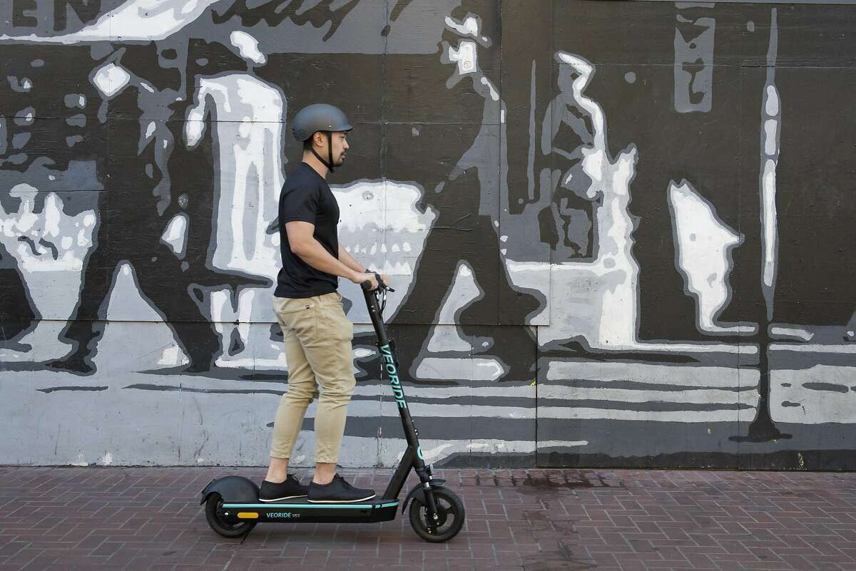 Teddy Liu, Design Director for VeoRide, stands for a portrait in San Francisco, Calif., on August 23, 2019.