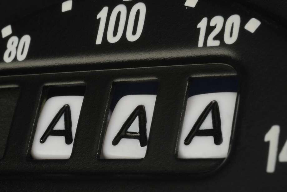 AAA credit rating as seen on an odometer. Photo: David Gould/Getty Images