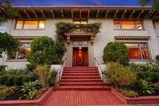 Commissioned by architect Walter H. Ratcliff Jr., the Cairns House at 2729 Elmwood in Berkeley, Calf., is a grand neoclassical estate that takes up an entire corner.