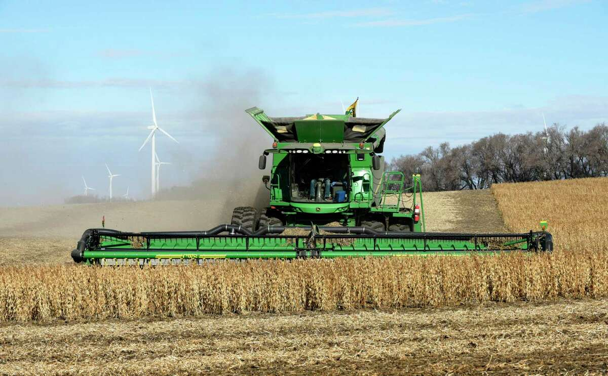 Harvesting soybeans outside Luverne, N.D., with a John Deere harvester. American soybean sales to China - the world's largest importer of soybeans - are down. The Wall Street Journal reports that U.S. farmers are purchasing fewer farm machines - Deere's profits from this business are down 24 percent from a year ago - partly because farmers' incomes have suffered as a result of the tit-for-tat trade spat that Trump started with China, which has included China canceling the purchase of almost 500,000 metric tons of soybeans. Some good news for John Deere might be ominous news for U.S. farmers: Equipment sales to Brazil and Argentina are up, perhaps partly because China has increased purchases from those nations' farmers, who are American farmers' competitors.