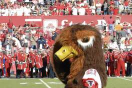 """Clear Lake Falcons. In 2007, Alexandra """"Alex"""" Atkins, in her role as Clear Lake High School's """"Talon the Falcon,"""" dances after she was announced at the Capitol One mascot competition during University of Houston vs. Rice University Football Game. Atkins won third place in the competition."""