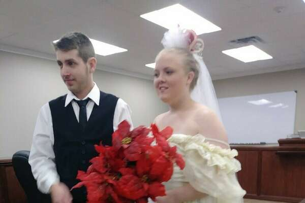 Harley Morgan, 19, and Rhiannon Morgan, 20, were leaving the Justice of the Peace where they had just gotten married Friday afternoon when their vehicle was struck by a Dodge truck, killing the couple instantly. Photos provided by Christina Fontenot, Harley Morgan's sister