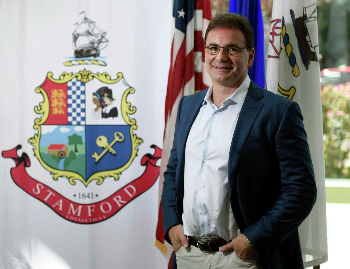 Stamford Board of Education member Nic Tarzia poses at the Government Center in Stamford on Thursday. Tarzia recently created Tarzia Foundation to help fund projects in Stamford Public Schools.