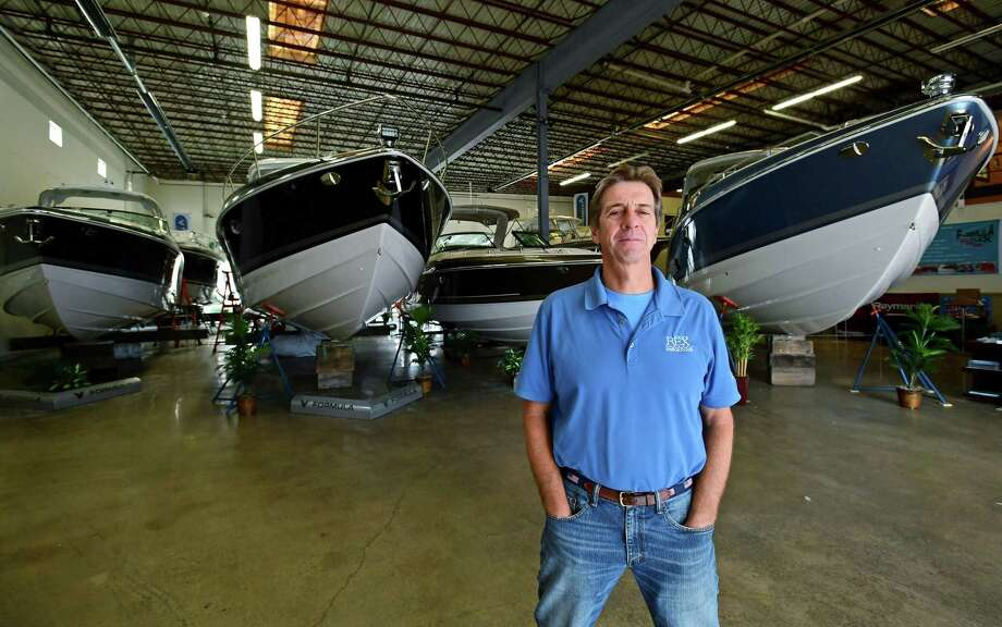 Bill Gardella Jr., Rex Marine and Norwalk Cove Marina's general manager, at Rex Marine Friday, August 23, 2019, in Norwalk, Conn. Photo: Erik Trautmann / Hearst Connecticut Media / Norwalk Hour