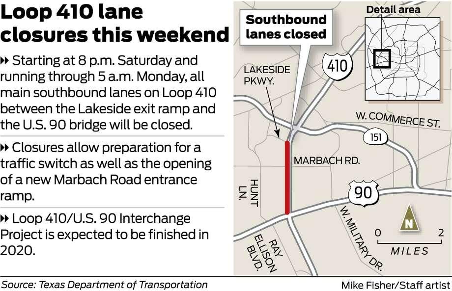 Loop 410 lance closures. Photo: Michael Fisher