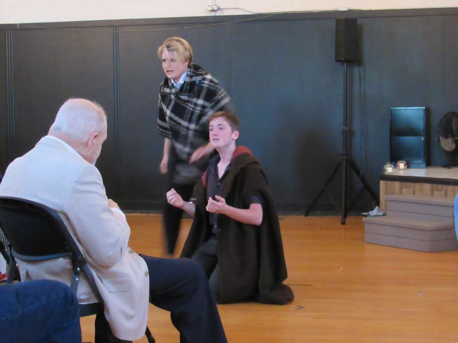 Local actors perform a one-act rendition of Shakespeare's Hamlet as part of The Pop-Up Shakespeare Project, Friday, Aug. 23, at Ashman Loft. Photo: Victoria Ritter/vritter@mdn.net