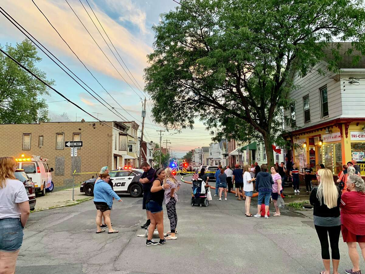 Cohoes firefighters responded to 136 Main St. just before 7 p.m. on Friday, Aug. 23, 2019 for a report of a fire in the rear of the three-story building's third floor.