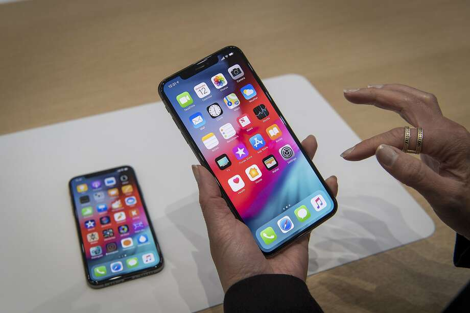 iPhone XS Max. Apple is expected on Tuesday to introduce new models of the Max, as well as other models. Photo: David Paul Morris, Bloomberg
