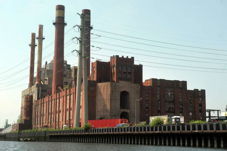 English Station, the abandoned power station, seen from the Mill River in New Haven. Photo: Ned Gerard / Hearst Connecticut Media / Connecticut Post