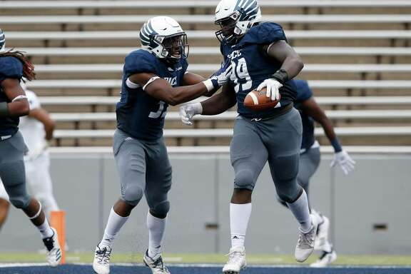 Myles Adams (99) was slowed by an injury but led Rice's defensive linemen last season with 2½ sacks and five tackles for a loss.