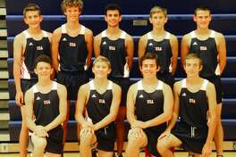 Members of the Unionville-Sebewaing boys cross country team are, front row, from left, Jacob VanHove, Ty Pavlichek, Nathan Miklovic and Tyler Aleksink; second row, from left, Michael Jacobs, Ethan Liken, David Khoury, Bryce Langmaid and Bentley Alderson. The team finished second at the D4 finals in Brooklyn on Saturday, Nov. 2, 2019.