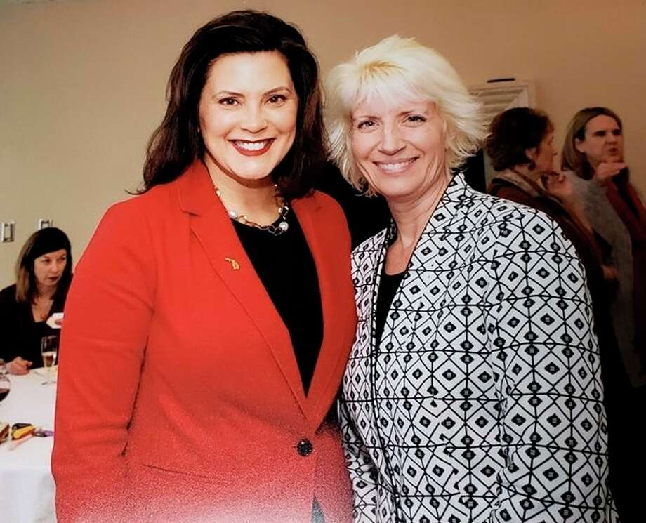 Gov. Gretchen Whitmer, left, and Rep. Annette Glenn. (Photo provided)