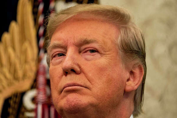 President Donald Trump, seen Thursday at the White House, arrived in France on Saturday for the Group of Seven summit.