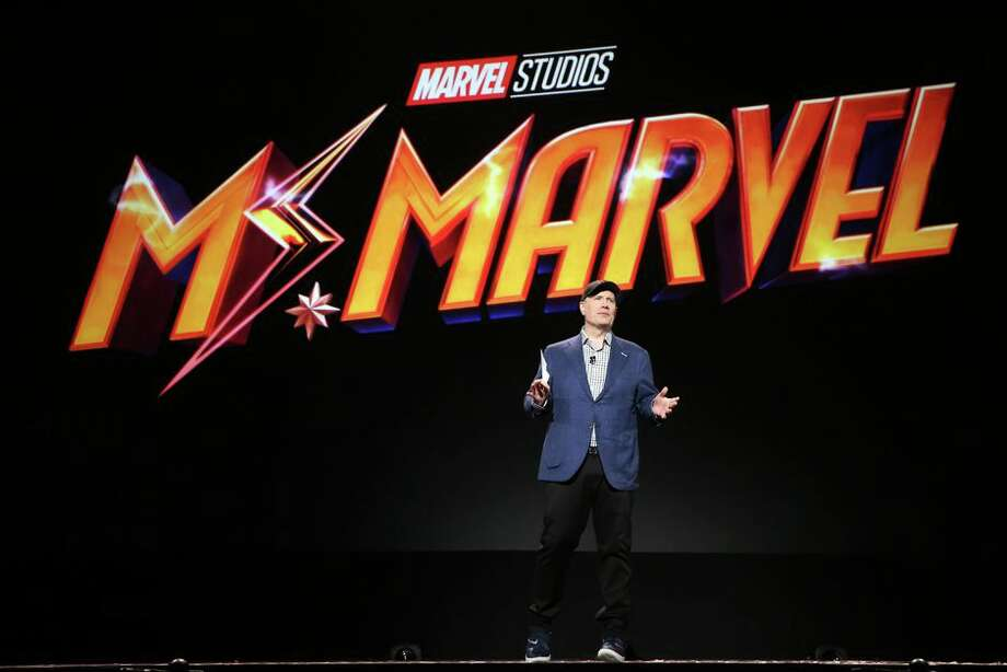 Marvel Studios President Kevin Feige unveiled plans for three additional Marvel shows on Disney Plus, include Ms. Marvel -- the company's first Muslim character to headline her own comic book. Photo: Jesse Grant