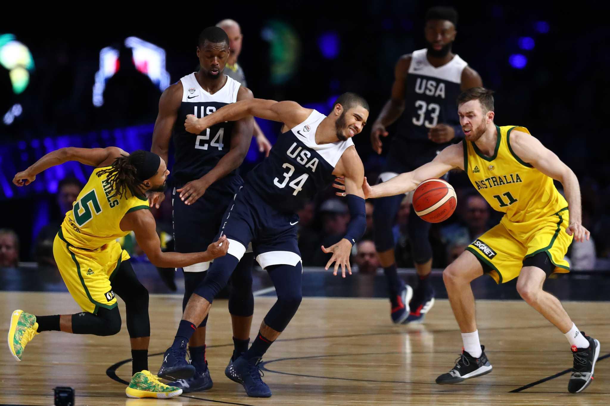 Australia snaps USA men's basketball's 78-game win streak