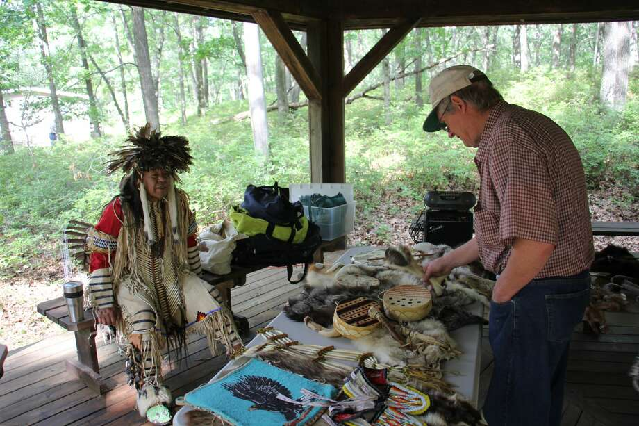 Locals came out to the Huron Nature Center in Port Austin for its first Three Sisters Festival. There, people could learn about different aspects of Native American life and history. Photo: Robert Creenan/Huron Daily Tribune