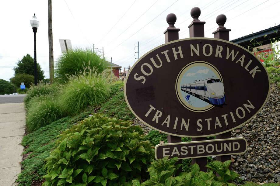 The South Norwalk Train Station Friday, August 23, 2019, in Norwalk, Conn. As a part of its 10-year master plan, called the Plan of Conservation and Development, Norwalk will be focusing on building more transit-oriented-development around the train stations, improved transportation and coastal plans to combat climate change. Photo: Erik Trautmann / Hearst Connecticut Media / Norwalk Hour