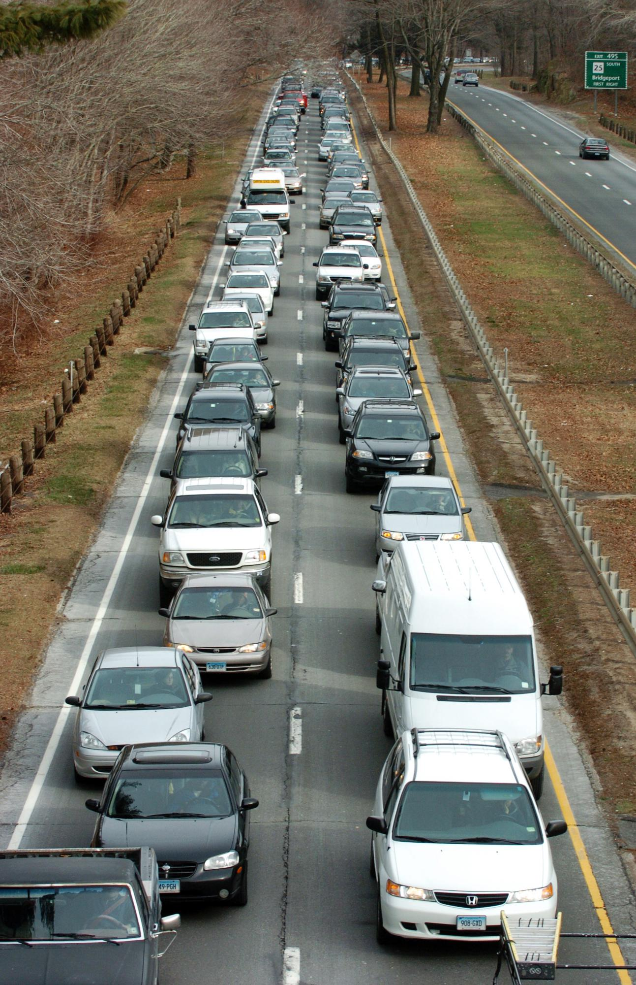 Overturned vehicle on Merritt Parkway in Trumbull cleared