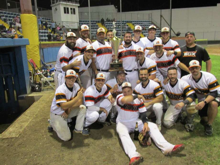 The Terryville Black Sox took the Tri-State Baseball League championship Friday night in a win over the Naugautck Dogs at Fuessenich Park. Photo: Peter Wallace / For Hearst Connecticut Media