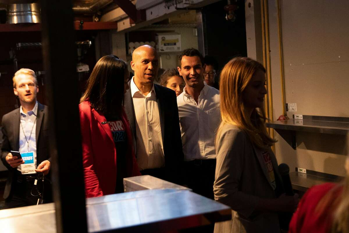 Democratic presidential candidate and U.S. Senator Cory Booker (D-NJ) arrives at a fundraiser at Folsom Street Foundry in San Francisco, Calif. on Thursday, Aug. 22, 2019.