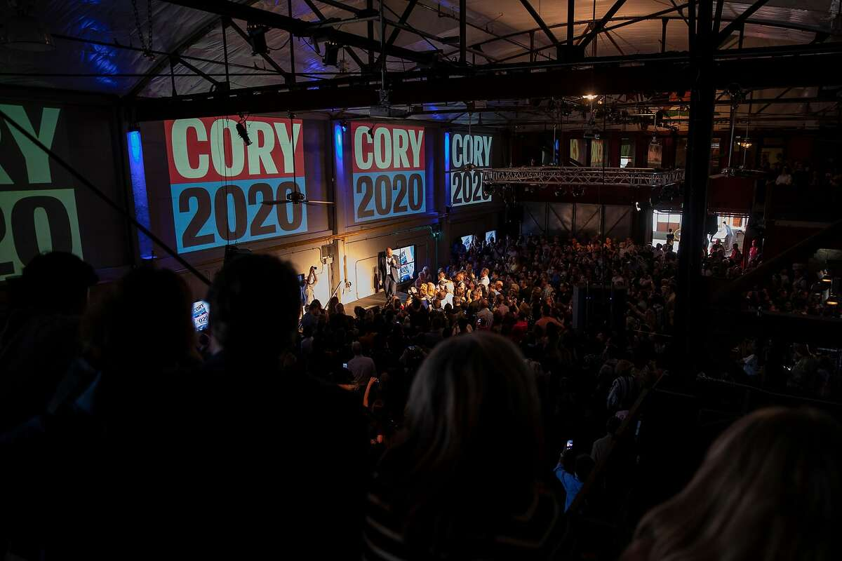 Democratic presidential candidate and U.S. Senator Cory Booker (D-NJ) speaks during a fundraiser at Folsom Street Foundry in San Francisco, Calif. on Thursday, Aug. 22, 2019.