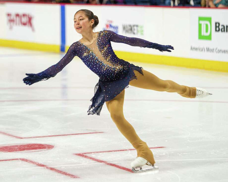 Alysa Liu, of Team Americans, skates at the Aurora Games on Saturday, Aug. 24, 2019, at the Times Union Center in Albany NY (Jim Franco/Special to the Times Union.) Photo: James Franco / 20047636A