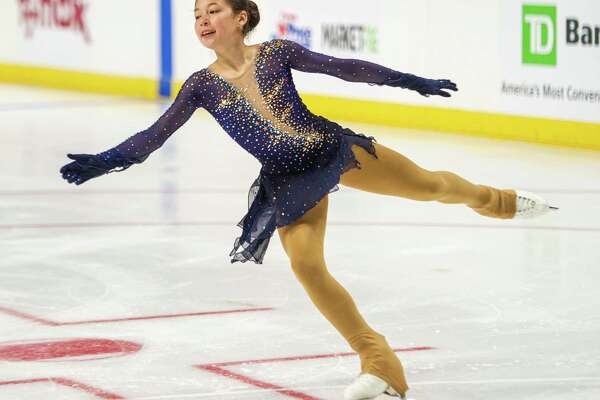 Alysa Liu, of Team Americans, skates at the Aurora Games on Saturday, Aug. 24, 2019, at the Times Union Center in Albany NY (Jim Franco/Special to the Times Union.)