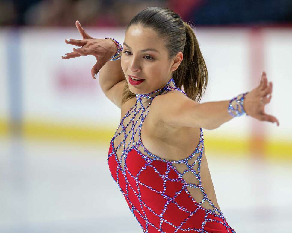 Montseinos Cantu, of Team Americans, skates at the Aurora Games on Saturday, Aug. 24, 2019, at the Times Union Center in Albany NY (Jim Franco/Special to the Times Union.)