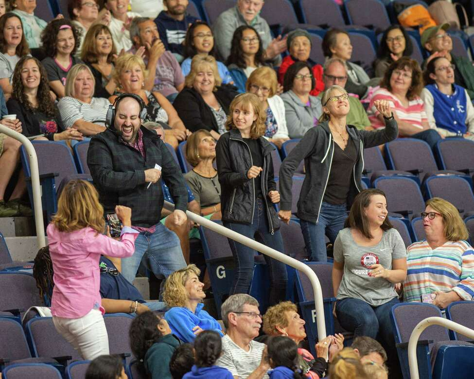 Figure skating fans during the Aurora Games on Saturday, Aug. 24, 2019, at the Times Union Center in Albany NY (Jim Franco/Special to the Times Union.)