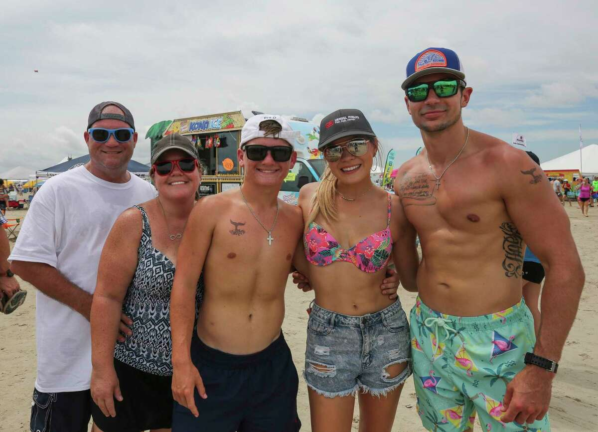 Beachgoers attended the 33rd Annual AIA Houston Sandcastle Competition Saturday, Aug. 24, 2019, in Galveston, Texas.