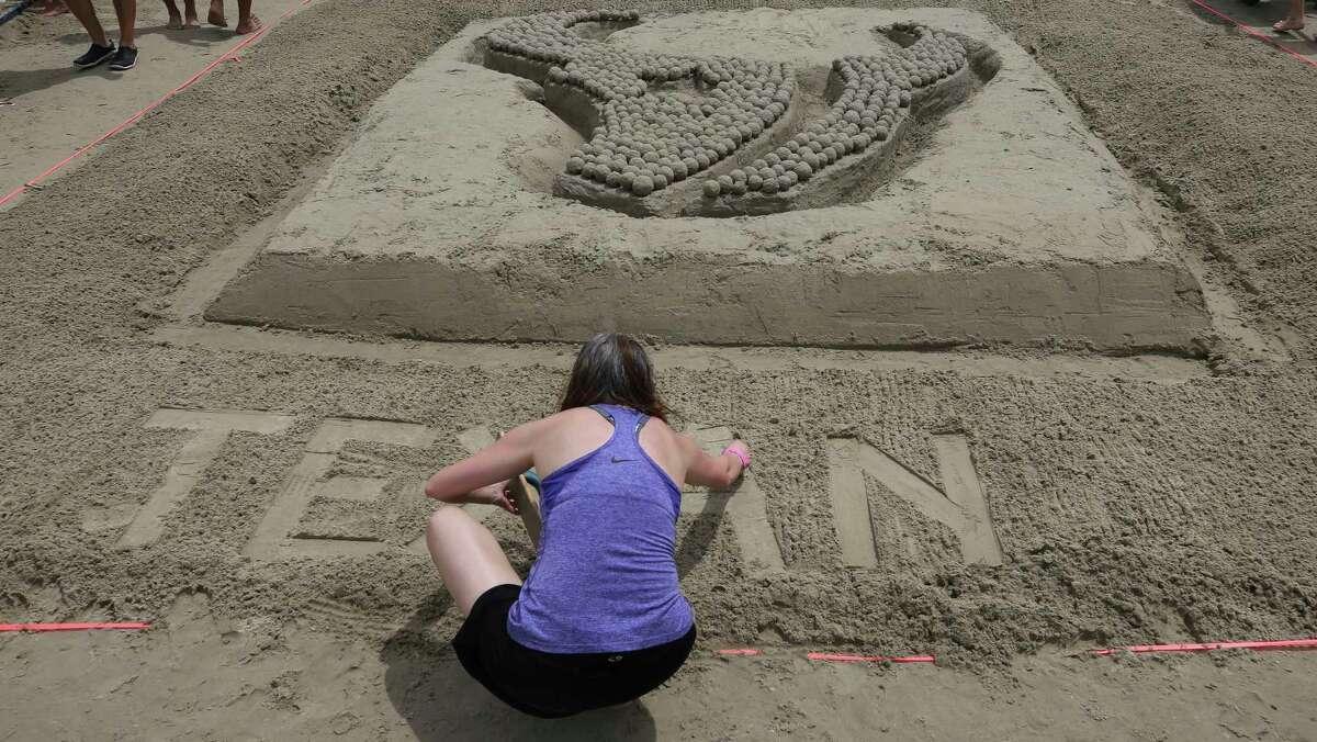 The Inventure Design, and Scott & Reid Construction team's sandcastle,