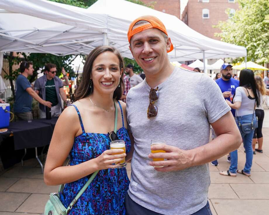 Downtown New Haven's annual outdoor craft beer festival was held August 24, 2019 at Temple Plaza Courtyard. The event featured beer from 30 local and regional breweries and. Festival goers enjoyed drink samples, music, food and games. Were you SEEN? Photo: Kaylah Gore