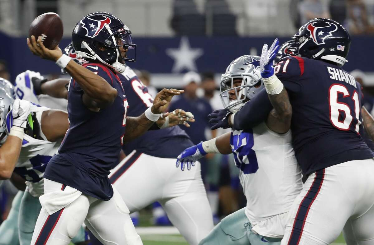 PHOTOS:Houston Texans players' contract for 2019 season Houston Texans quarterback Joe Webb (5) throws a pass against the Dallas Cowboys during the fourth quarter of an NFL preseason football game at AT&T Stadium on Saturday, Aug. 24, 2019, in Arlington, Texas. >>>Here's a look at the salaries and contracts for each Houston Texans player on the 2019 roster ...