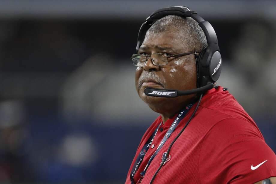 PHOTOS: Each Texans player's contract heading into 2020 offseason Houston Texans defensive coordinator Romeo Crennel stands on the sidelines during the second quarter of an NFL preseason football game against the Dallas Cowboys at AT&T Stadium on Saturday, Aug. 24, 2019, in Arlington, Texas. >>>Browse through the photos for alook at the contract situation for each Houston Texans player in the 2020 NFL offseason ... Photo: Brett Coomer/Staff Photographer