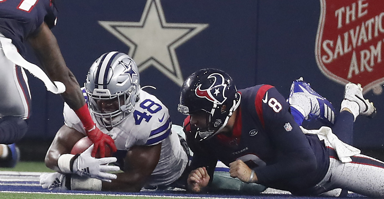 McClain's takeaways from Cowboys 34, Texans 0