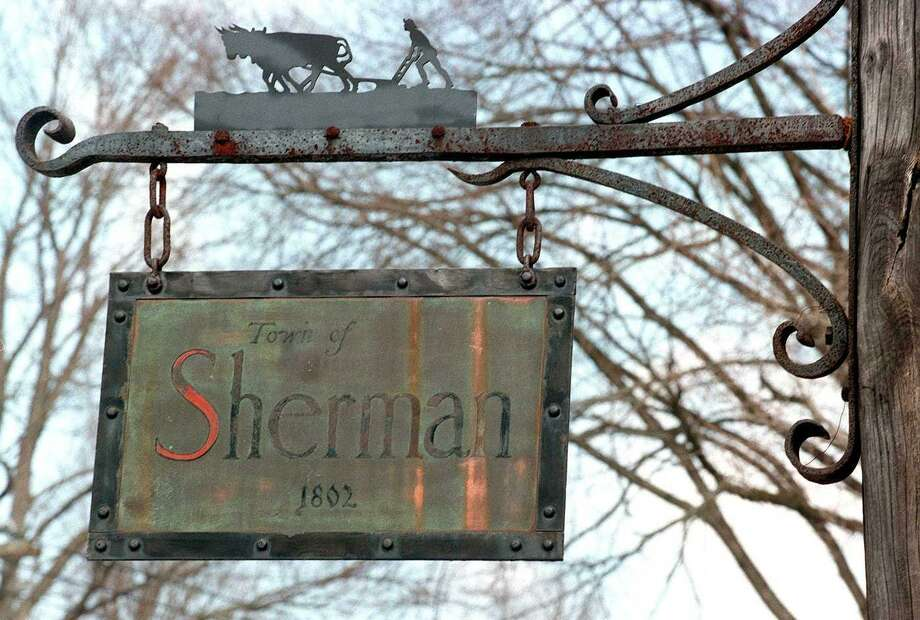 File photo of Sherman sign. Photo: File Photo / File Photo / The News-Times File Photo