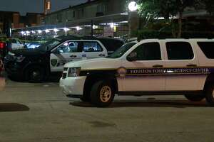 Police are searching for suspects after two men were shot while playing basketball at a northwest Houston apartment complex.