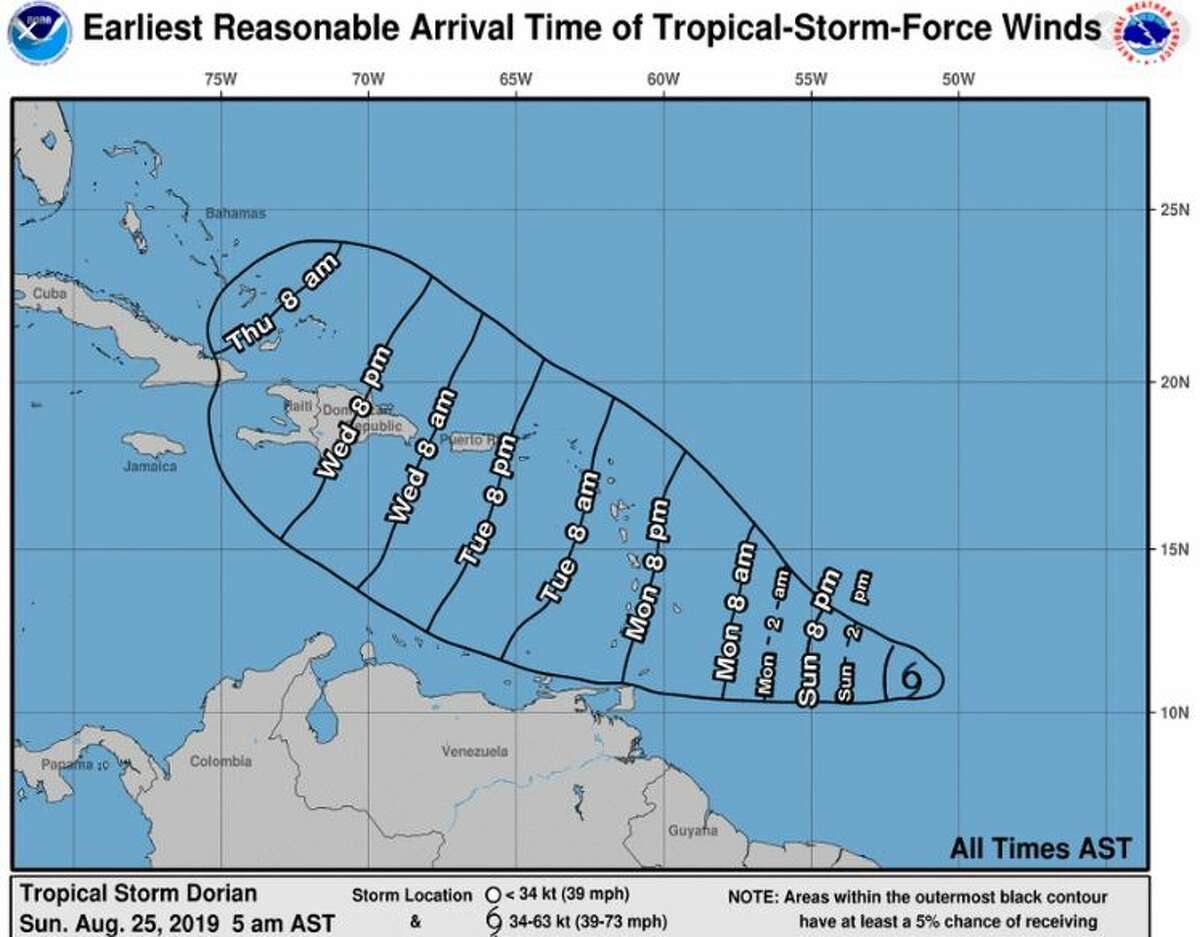 A tropical storm watch has been issued for Barbados as the fourth tropical storm of this year's Atlantic hurricane season moves toward the Lesser Antilles.